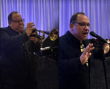 Johnny Bluehorn; trumpet, vocals